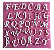 26 lettere inglesi del silicone 3D stampo pentole bar sala antiaderente decora fondente sapone