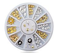 1pcs Cute Ocean Sea Life Gold Silver Alloy Nail Art Decorations Studs Wheel