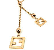 Fashion Rose Gold 316L Stainless Steel Pendant Necklace