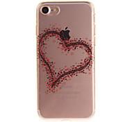 Per IMD Custodia Custodia posteriore Custodia Con cuori Morbido TPU per Apple iPhone 7 / iPhone 6s/6