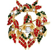 The Christmas bell garland Brooch