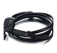 Men's Wrap Bracelets Jewelry Axe Adjustable Hallowas/Sports/Outdoor/Casual/Birthday/Daily Fashion Leather/Stainless Steel  Black 1pc Gift