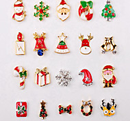 5pcs Christmas Nail Art Decoration Rhinestone Nail Art Design