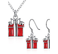 Jewelry Chrismas Red 1 Necklace 1 Pair of Earrings For Halloween Daily Casual 1set Wedding Gifts
