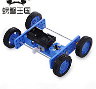 Crab Kingdom DIY Technology Production Assembly Toys Small Rubber Wheels Two Drive Car 30