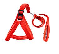 Dog Harness Safety Solid Red / Black / Blue Denim