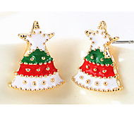 Earring / Earring Back Jewelry Women Party Alloy 1 pair White / Red / Green
