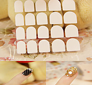 5 Packs French Manicure Smile Tip Guides Pedicure DIY Nail Art Stickers Transparent Texture Nail Double Post