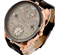 Мужской Спортивные часы Армейские часы Нарядные часы Модные часы Наручные часы С тремя часовыми поясами Панк Кварцевый Кожа ГруппаВинтаж