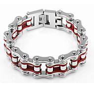 Men's Chain Bracelet Stainless Steel Fashion Red Jewelry 1pc