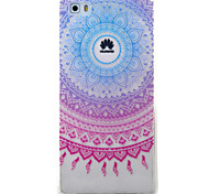 For Huawei Y5II Y6II Y625 Y635 5X P9 P8 Lite Case Cover Blue Campanula Pattern Painted TPU Material Phone Case