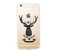 iPhone 7 7Plus Cartoon Christmas Pattern TPU Ultra-thin Transparent Soft Back Cover for iPhone 6s 6 Plus 5s 5 5E