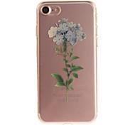Per IMD Custodia Custodia posteriore Custodia Fiore decorativo Morbido TPU per Apple iPhone 7 / iPhone 6s/6