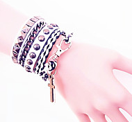 Men's Charm Bracelet Bangles Leather Bracelet Leather Jewelry For Daily