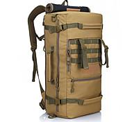 50 L Viaggi Duffel / zaino / Zaino per escursioni Campeggio e hiking / Scalata All'aperto Impermeabile / IndossabileNero / Verde militare