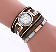 New Brand Dress Watch Womens Luxury Quartz Bracelet Crystal Rivet Braided Ladies Watches Hot Sale