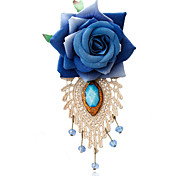 Women's Fashion Retro Crystal/Resin Blue Rose Flower Brooches Pin Daily/Casual Accessory 1pc