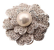 Women's Brooches Simulated Diamond Simple Style White Black Jewelry Daily