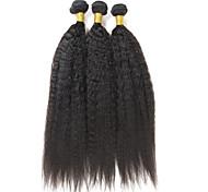 Tejidos Humanos Cabello Cabello Brasileño yaki 12 meses 1 Pieza los tejidos de pelo