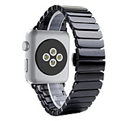 LIVEER Ceramic Wrist Strap Ceramics 38mm 42mm Watchband With Adapter Connector for Apple Watch 1/2 Series