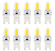 2W G9 LED Bi-pin Lights T 1 COB 180-220 lm Warm White / Cool White Dimmable / Waterproof AC 220-240 V 10 pcs