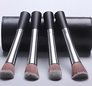 4 Makeup Brushes Set Synthetic Hair Travel / Portable Wood Face / Eye / Lip Others