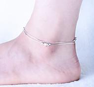 Frau Legierung Kreiskarabinerverschluss Fußkettchen