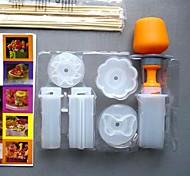 kithen herramientas de bricolaje 6 en 1 flores / corazón / círculo / estrella / sol / mariposa molde de pastel de frutas