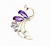 Women Jewelry Alloy Purple Brooches 1ps