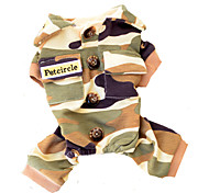 Dog Clothes/Jumpsuit Camouflage Color Dog Clothes Winter Spring/Fall Camouflage Fashion
