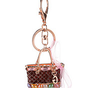 Key Chain Square Key Chain Red / Blue / Purple Metal