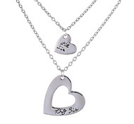 Necklace Non Stone Layered Necklaces Jewelry Daily Casual Heart Basic Design Heart Sterling Silver Women 1pc Gift Silver