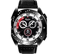 Men's Wrist watch Quartz Noctilucent Genuine Leather Band Cool Casual Black White Brown Brand