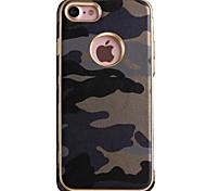 Per Resistente agli urti Custodia Custodia posteriore Custodia Mimetico Morbido TPU per AppleiPhone 7 Plus / iPhone 7 / iPhone 6s Plus/6