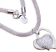 Жен. Ожерелья с подвесками В форме сердца Стерлинговое серебро Любовь Сердце Свадьба бижутерия Бижутерия Назначение Свадьба Для вечеринок