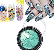 1Pcs Colors Shell Paper Sticker Nail Art Decoration