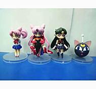 Sailor Moon Sailor Moon PVC 7cm Anime Action Figures Model Toys Doll Toy 1set