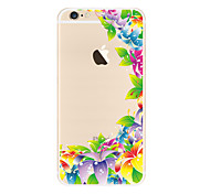 Color flower Pattern TPU Soft Case Cover for Apple iPhone 7 7 Plus iPhone 6 6 Plus iPhone 5 SE 5C iPhone 4