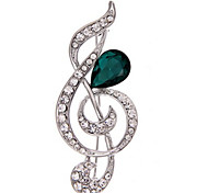 Women's Brooches Crystal Simulated Diamond Fashion Music Notes Jewelry Daily