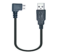 0.25M 90 Degree Micro USB Male to USB Data Charge Cable for Samsung S3 S4 Android phones