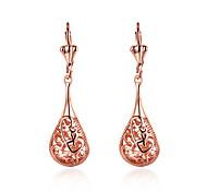 Tropfen-Ohrringe Imitation Diamant Rose Gold überzogen Aleación Tropfen Gold Schmuck Hochzeit Party Alltag 1 Paar