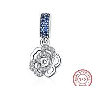 европейские и американские ювелирные изделия стерлингового серебра 925 кулон кулон висит - роза аксессуары форма