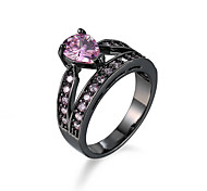New Hot Fashion Pink CZ Ring Gold Jewelry Wholesale