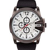 Men's Wrist watch Quartz / Genuine Leather Band Cool Casual Black Brand