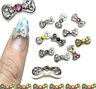 10pcs  Nail Bow Diamond Nail Jewelry