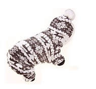 Dog Hoodie Clothes/Jumpsuit Dog Clothes Keep Warm Sports Floral / Botanical Gray