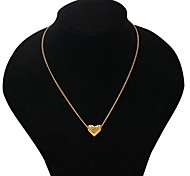 Women's Pendant Necklaces / Alloy Heart Heart Fashion Golden Jewelry Daily Casual Valentine 1pc