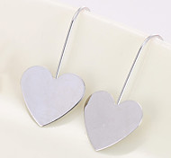 Drop Earrings Copper Fashion Heart Gold Silver Jewelry Daily Valentine 1 pair