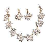 Damen Perle Perle 1 Halskette 1 Paar Ohrringe Für Alltag Hochzeitsgeschenke