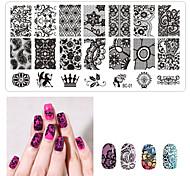 1ps ногтей печать шаблон ногтей кружева pattren 12x6cm